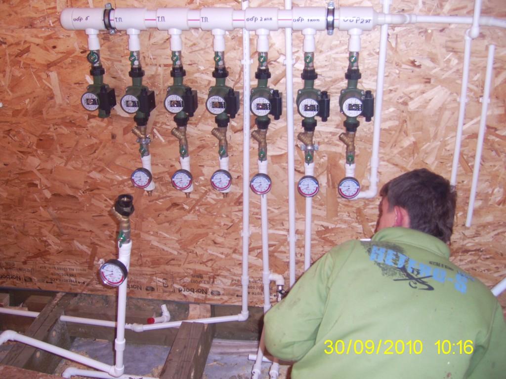 этапы работ по отоплению дачного дома